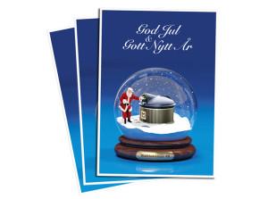 Julkort för Markbehållare
